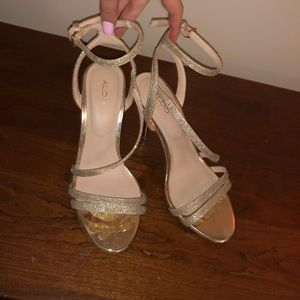 aldo gold shoes